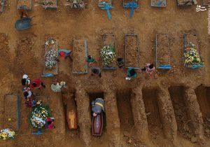 تصاویر جدید از اجساد قربانیان کرونا در جهان
