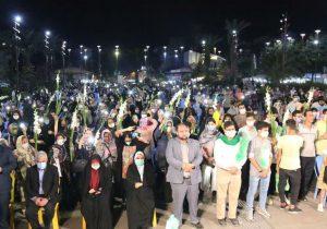 جشن بزرگ میلاد امام رضا (ع) در پیاده راه فرهنگی شهدای ذهاب برگزار شد