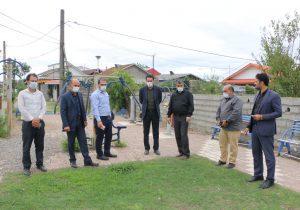 بازدید شهردار و اعضای شورای شهر چاف و چمخاله از پارک تپه جهت بازسازی