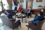 دیدار رئیس دانشگاه علوم پزشکی گیلان با فرمانده قرارگاه خاتمالانبیاء سپاه در راستای پیگیری پروژههای عمرانی حوزه سلامت