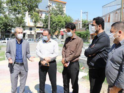 سرپرست شهرداری لاهیجان از پروژه های شهری بازدید کرد