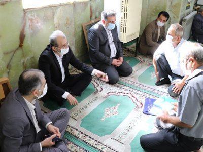 حضور سرپرست شهرداری لاهیجان در برنامه میز خدمت جهادی و ملاقات عمومی با شهروندان در مسجد جامع ، همزمان با چهلمین سالگرد هفته دفاع مقدس