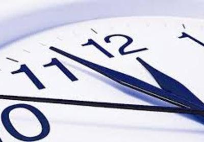 تغییر ساعت رسمی کشور از فردا