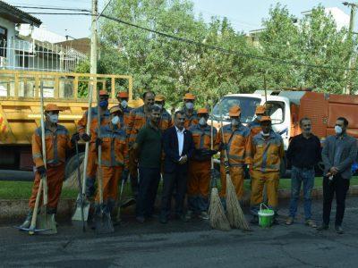 ویژه برنامه عملیات پاکسازی محله دیانتی با مشارکت سازمان مدیریت پسماندهای شهرداری رشت