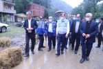 بازدید استاندار گیلان از مناطق سیل زده تالش