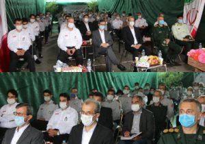 مراسم تجلیل از آتش نشانان لاهیجان به مناسبت هفتم مهر ماه روز ایمنی و آتش نشانی