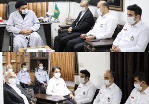 دیدار اعضای مدیریت شهری و پرسنل آتش نشانی با امام جمعه لاهیجان