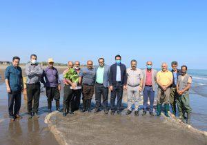 بازدید مدیریت شهری چاف و چمخاله از پره های صیادی