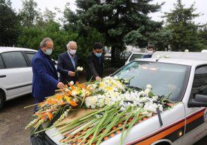 مراسم وداع با پیکر دکتر وحید نیک سرشت در رشت با حضور رییس دانشگاه علوم پزشکی گیلان