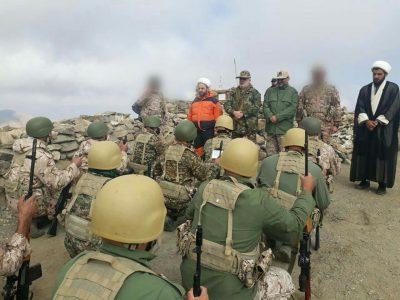 حضور سردار عبداللهپور در جمع رزمندگان لشکر ۱۶ قدس گیلان در مناطق عملیاتی شمالغرب