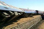 واژگونی قطار در محور قزوین به رشت/ قطار مسافربری «گیلان-مشهد» از ریل خارج شد