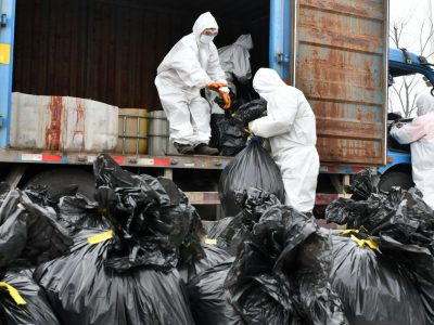 کمین ویروس کرونا در میان زباله ها