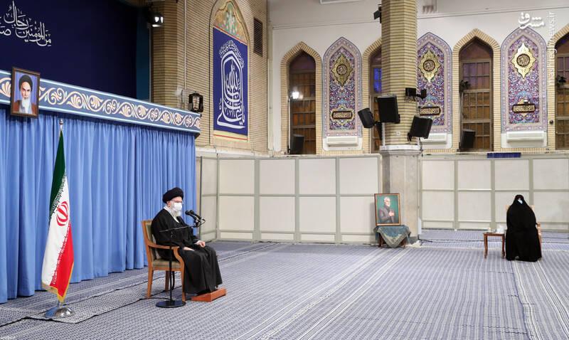 3007652 دیدار دستاندرکاران مراسم سالگرد شهید سلیمانی با رهبر انقلاب