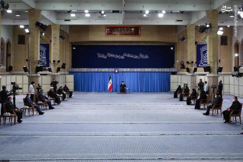 3007689 دیدار دستاندرکاران مراسم سالگرد شهید سلیمانی با رهبر انقلاب