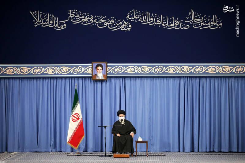 3007739 دیدار دستاندرکاران مراسم سالگرد شهید سلیمانی با رهبر انقلاب