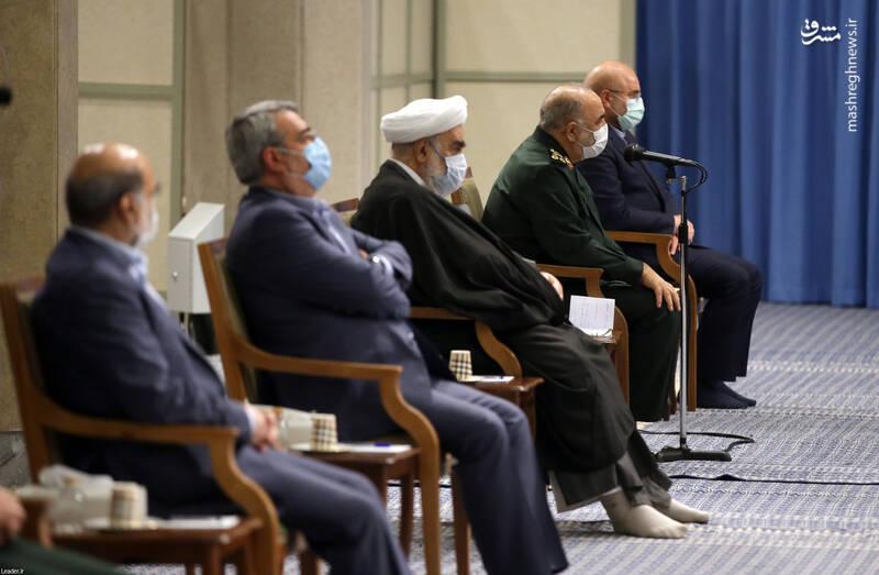 3007741 دیدار دستاندرکاران مراسم سالگرد شهید سلیمانی با رهبر انقلاب