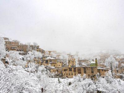 شهر تاریخی ماسوله سفید پوش شد