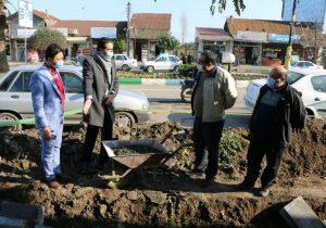 بازدید شهردار و اعضای شورای از جدول گذاری شهر چاف