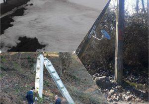 طوفان و تند باد شدید به شبکه برق ۱۲شهر و روستا های استان خسارت وارد کرد