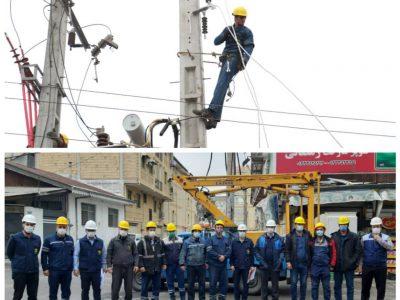 اکیپ های عملیاتی شرکت توزیع نیروی برق گیلان در حالت آماده باش قرار گرفتند