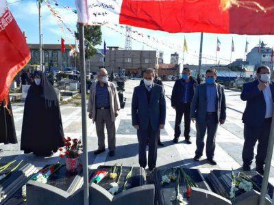 ادای احترام شهردار رشت به مقام شامخ شهدای انقلاب اسلامی