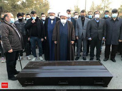 مراسم خاکسپاری مرحوم علی انصاریان