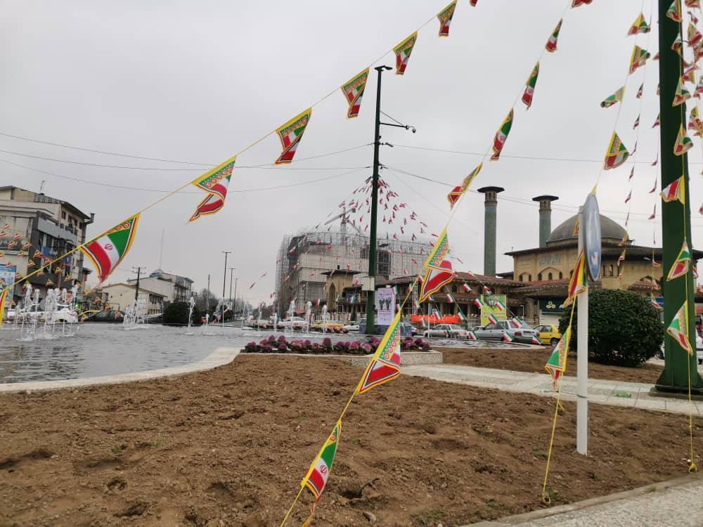 38a614ed-dad9-46d9-a598-62972eae2a3e نصب المانهای دهه فجر در میدانهای رشت