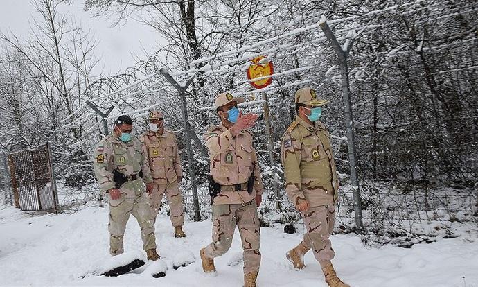 مرزبانی از ایران در دمای زیر صفر درجه