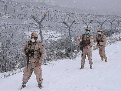 مرزبانی از ایران در دمای زیر صفر درجه آستارا