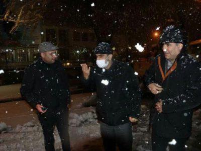 حضور میدانی شهردار رشت در سطح شهر همزمان با بارش برف
