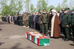 مراسم وداع با پیکر فرمانده گیلانی جبهه مقاومت