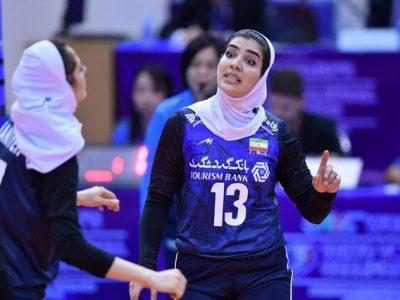 نگین شیرتری بانوی ملی پوش گیلانی لژیونر جدید والیبال ایران