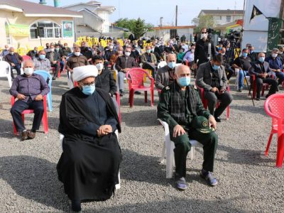 مراسم بزرگداشت سردار سرافراز محمدعلی حق بین در چمخاله برگزار شد