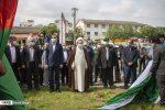 اهتزاز پرچم فلسطین در رشت
