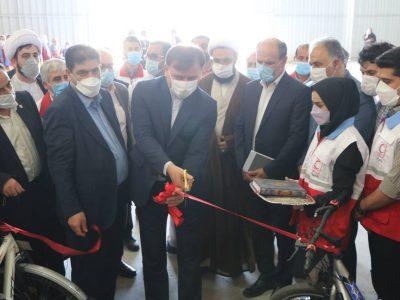 افتتاح پروژه های عمرانی و طرح سحاب با حضور رئیس جمعیت هلال احمر در اردوگاه چاف