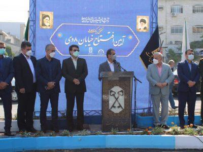 افتتاح زودتر از موعد پروژه بلوار هشت دی مصداق بارز مدیریت جهادی در شهرداری رشت