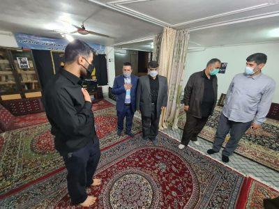 حضور شهردار لنگرود، جمعی از مسئولین شهرستان در منزل سردار حق بین