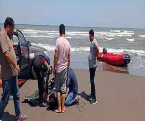 جوان ۲۵ساله از غرق شدگی در دریای کاسپین نجات یافت