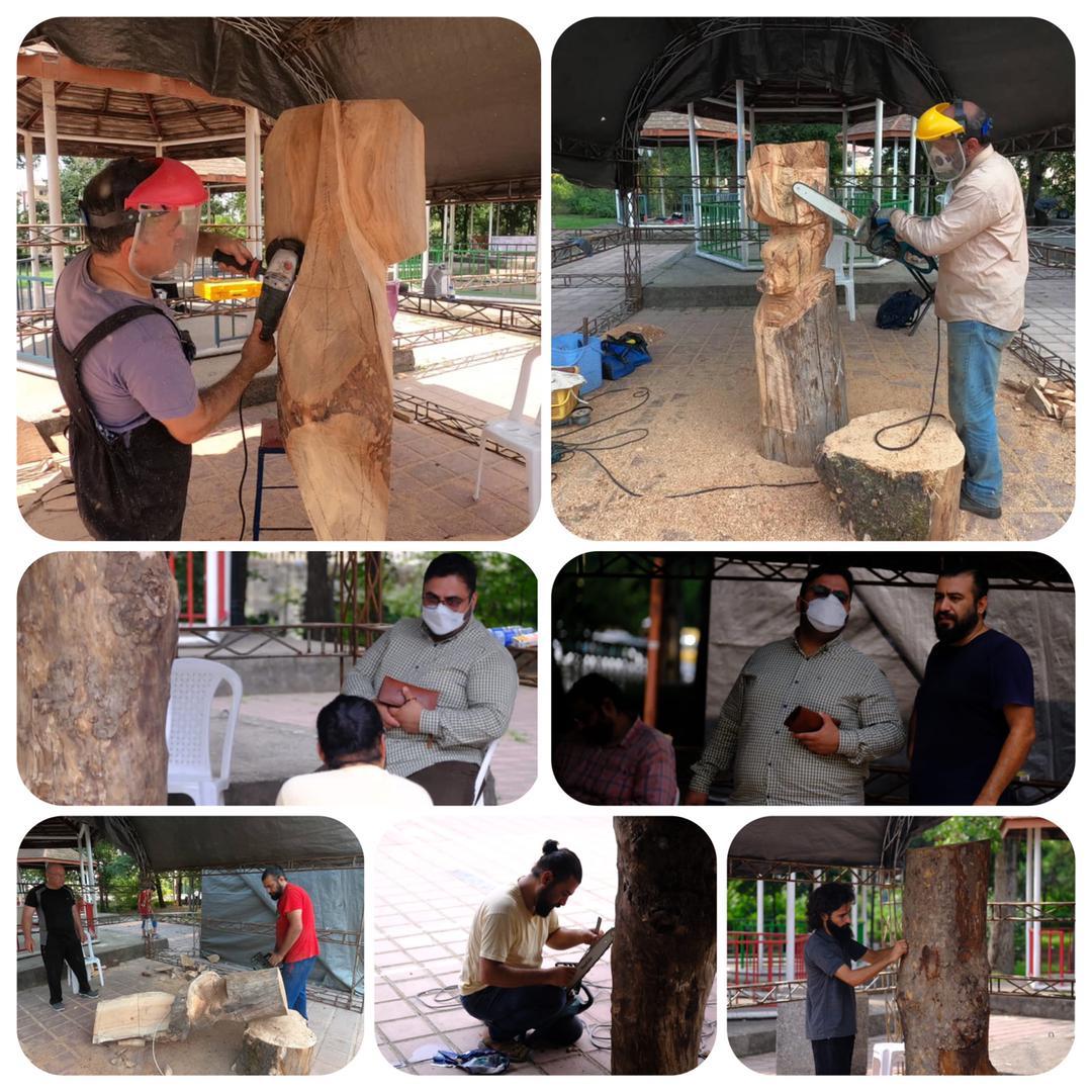 چهارمین جشنواره مجسمه های درختی رشت