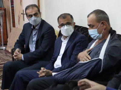عیادت شهردار و عضو شورای اسلامی رشت از پاکبان آسیب دیده