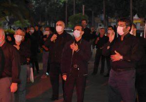 مراسم عزاداری سالار شهیدان در میدان شهدای ذهاب رشت
