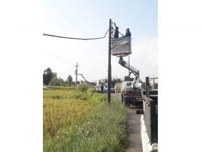 جایگزینی بیش از ۴۰۰۰ متر شبکه فرسوده سیمی در مناطق روستایی، کوچصفهان با کابل خودنگهدار