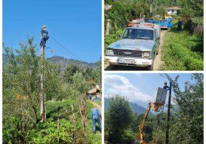 برخورداری ساکنین دو روستای کم برخوردار شهرستان فومن از طرح جهادی احداث کابل خودنگهدار