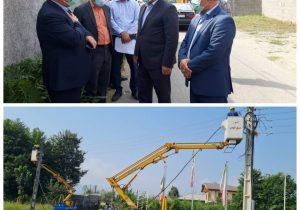 اصلاح و جایگزینی ۱۱۵۸ متر کابل خودنگهدار در شهرستان فومن