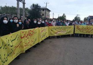 تجمع کارکنان مخابرات گیلان و سازمان چای در حاشیه سفر قالیباف