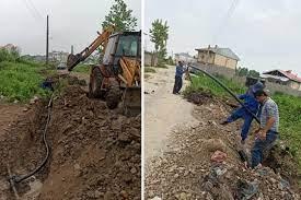 رفع افت فشار آب شرب روستای خشکنودهان شهرستان فومن